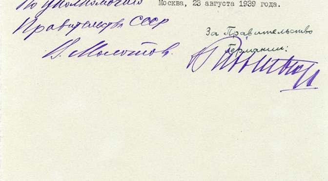 Die Unterschrift zum Weltkrieg