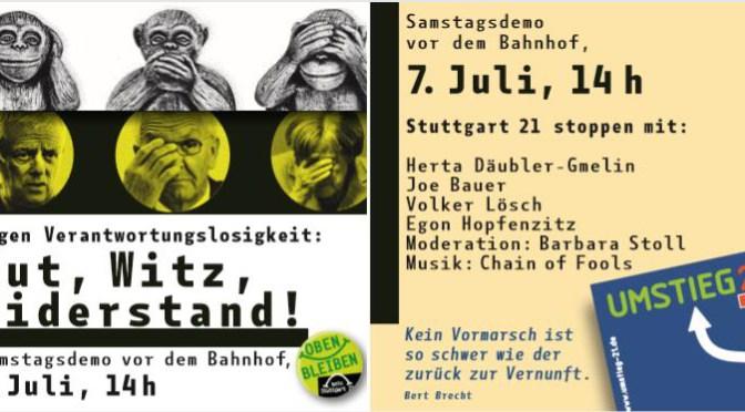 Samstagsdemonstration gegen Stuttgart 21