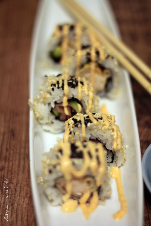 Ebi Tempura Sushi Inside Out-Roll