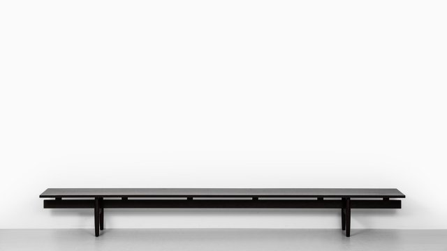 "Ib Kofod-Larsen bench ""Long Banc"" in solid wengé at Studio Schalling"