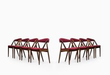 Kai Kristiansen dining chairs by Schou Andersen at Studio Schalling