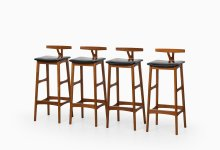 Erik Buck bar stools by Dyrlund at Studio Schalling