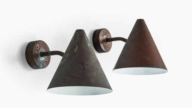 Hans-Agne Jakobsson outdoor wall lamps model Tratten at Studio Schalling