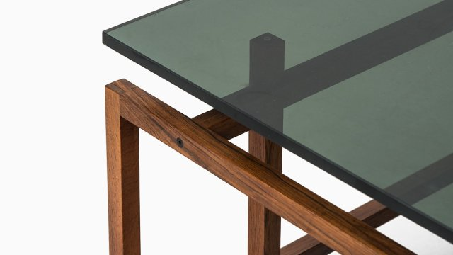 Henning Nørgaard coffee table in rosewood and glass at Studio Schalling