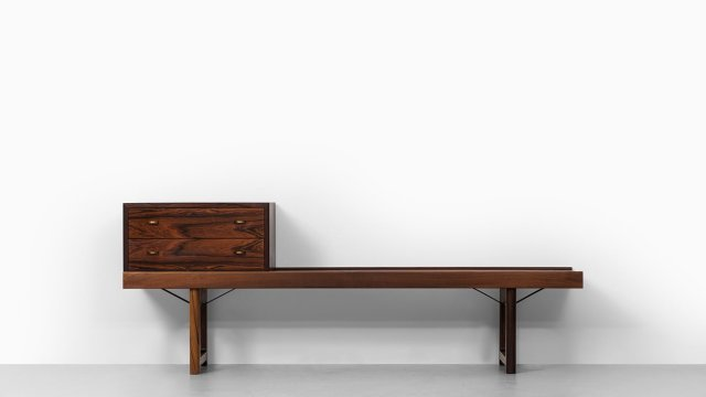 Torbjørn Afdal Krobo bench with drawer at Studio Schalling