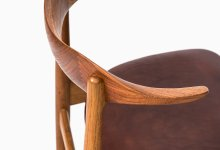 Knud Færch cowhorn chair by Slagelse møbelfabrik at Studio Schalling