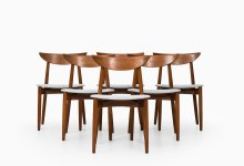 Harry Østergaard dining chairs in teak at Studio Schalling