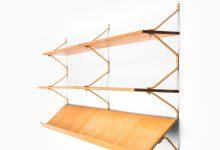 Bruno Mathsson wall-mounted bookcase at Studio Schalling