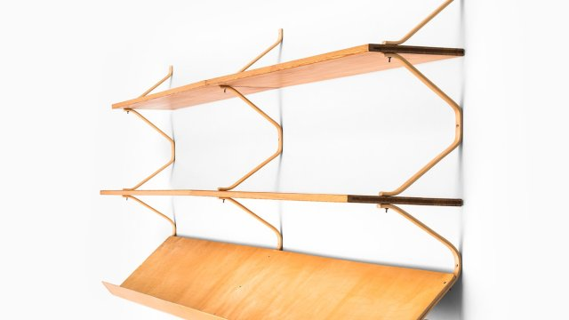 Bruno Mathsson wall-mounted bookcase at Studio Schalling