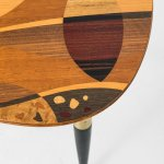Side table with intarsia at Studio Schalling