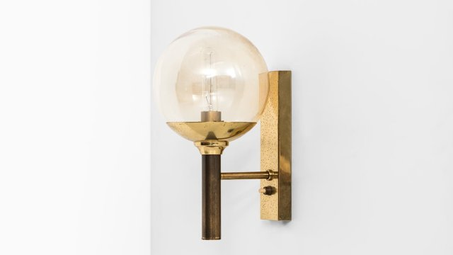Sven Mejlstrøm wall lamps in brass and glass at Studio Schalling