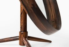 Table mirror in rosewood at Studio Schalling