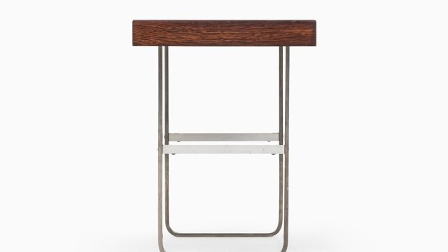 Side table in steel and wengé at Studio Schalling