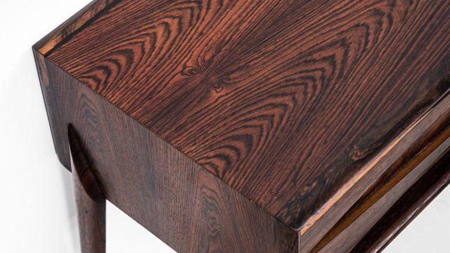 Rimbert Sandholt side table in rosewood at Studio Schalling