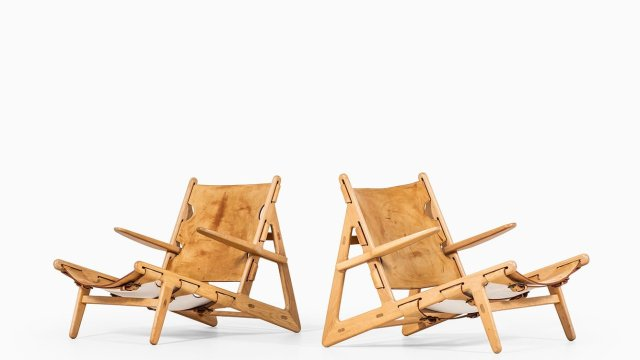 Børge Mogensen hunting chairs in oak at Studio Schalling