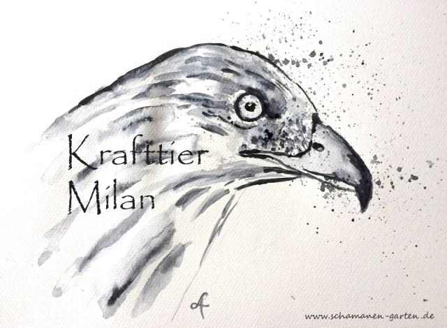 Krafttier Milan, gemalt