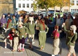 Die Tanzgruppe des Kinder- und Jugendhilfevereins.