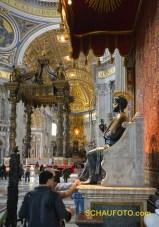 Auch zum Anfassen: St. Petrus.