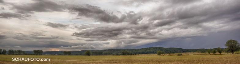 Abendwolken über dem Leißlinger Wald - Farbversion 2