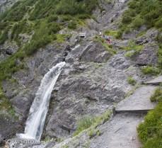 Am nächsten Tag: Einstieg in die Wasserfalltour.