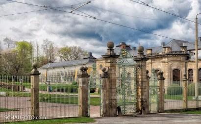Eingang zur Orangerie.