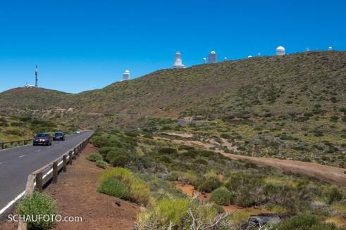 Und nochmal das Observatorium bei unserer Anfahrt.