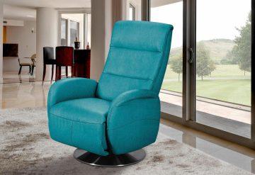 INOSIGN Relaxsessel blau, inklusive Relaxfunktion, FSC®-zertifiziert