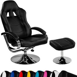 "Racing TV Sessel ""GT Relax Racer"" mit Fußhocker, 8 Farbvarianten, 360 Grad drehbar, verstellbare Rückenlehne -"