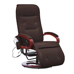 Relaxliege Relaxsessel ARLES II MIT Massage ~ Kunstleder, coffee -
