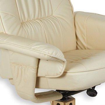 Relaxsessel COMFORT inklusive Wärme und Massagefunktion, Fernsehssessel Massagesessel mit Hocker in beige/cremeweiß -