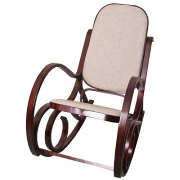 Schaukelstuhl Kaufen ᐅ schaukelstuhl schwingsessel m41 aus holz walnuss stoff beige