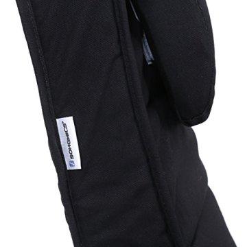 Songmics Schaukelstuhl Relaxstuhl Birkenholz 5-fach verstellbares Fußteil Belastbarkeit 150 kg schwarz LYY10B -