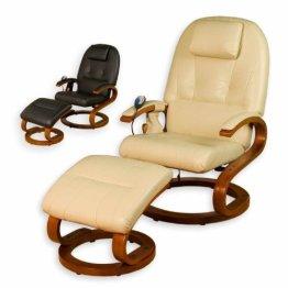 STILISTA® Massagesessel im S-Design, Farbvarianten, HEIZFUNKTION, extra dicke Polsterung, XXL Lehne, creme-beige -
