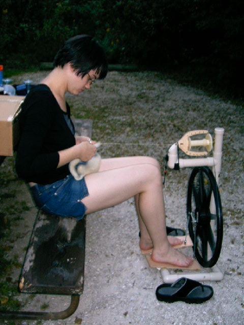 Spinning at Camp