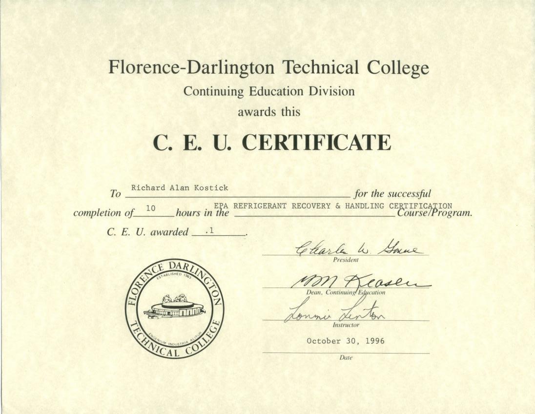 Cfc Certification Test Study Manual