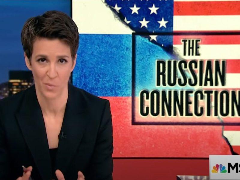 Screenshot of Rachel Maddow's MSNBC show.