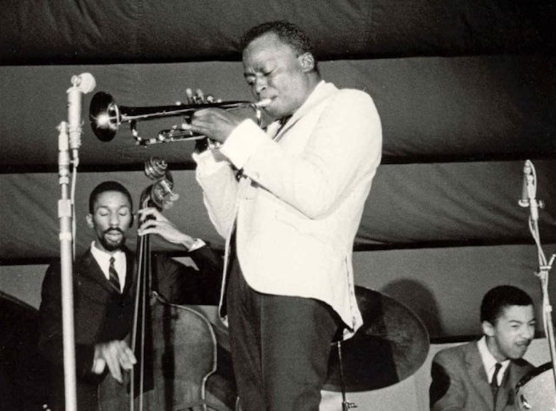 Miles Davis performing in France in 1963.