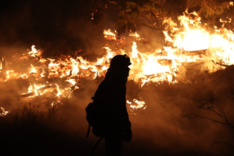 The Dixie Fire rages in California on Aug. 26, 2021.
