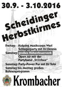 Plakat Scheidinger Herbstkirmes 2016