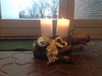 Juledekorationen nede i forhallen i min fars firma.