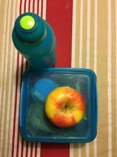Så skal madkassen i køleskabet og vandflasken skal i fryseren fyldt op med 1/4 vand og fyldes op i morgen med frisk koldt vand.