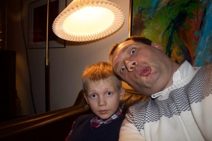 Far og søn <3