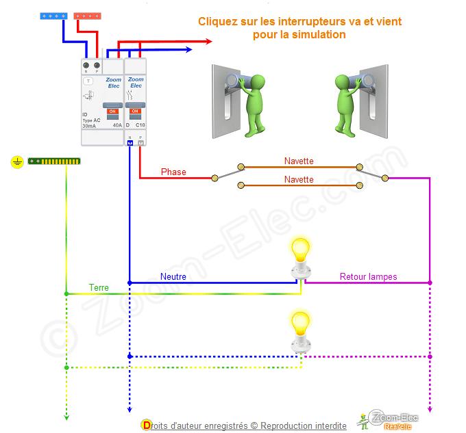 Schema Va Et Vient Schema Electrique Interactif D Un Va Et Vient