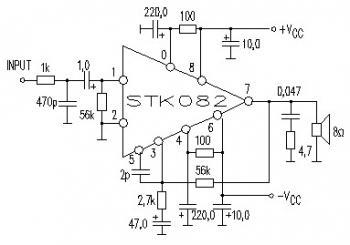 35W Power Amplifier Circuit using STK082
