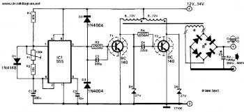 Inverter 12V DC to 240V DC circuit diagram