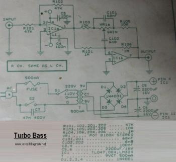 Turbo Bass circuit diagram