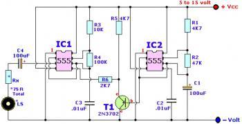 Wailing Alarm Siren circuit diagram