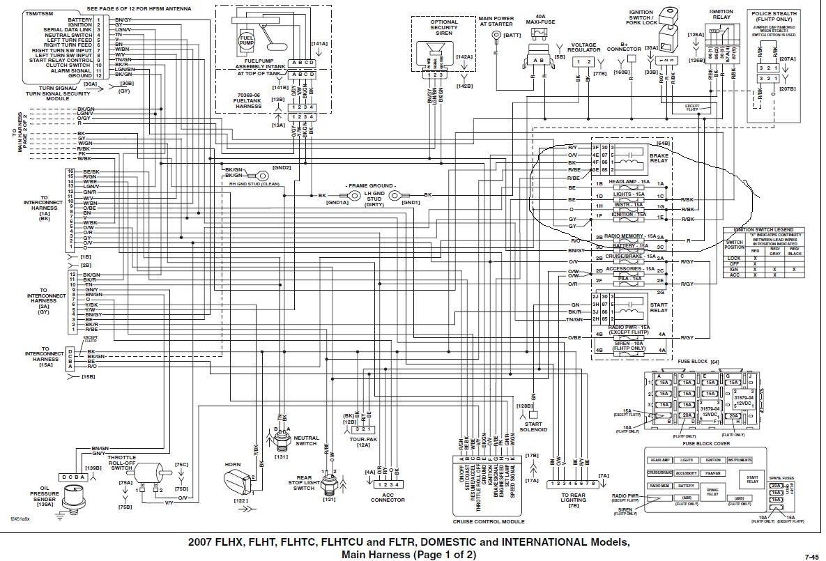 07 Harley Davidson Electra Glide Hand Control Wiring Diagram