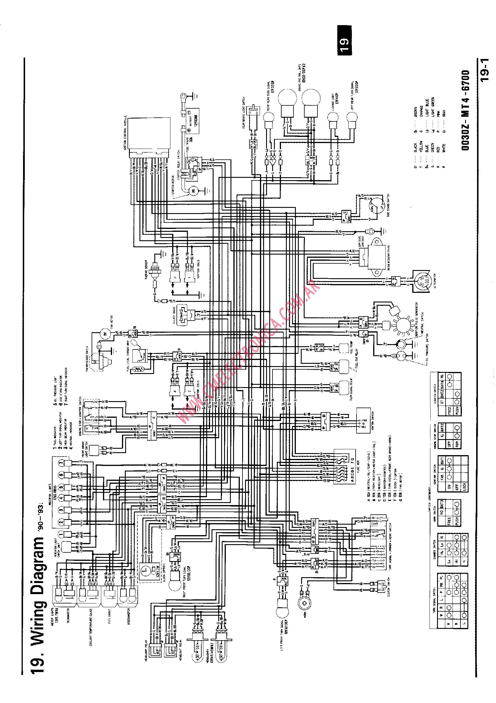 1999 Honda    Cbr       600       Wiring       Diagram         Wiring       Diagram    Database