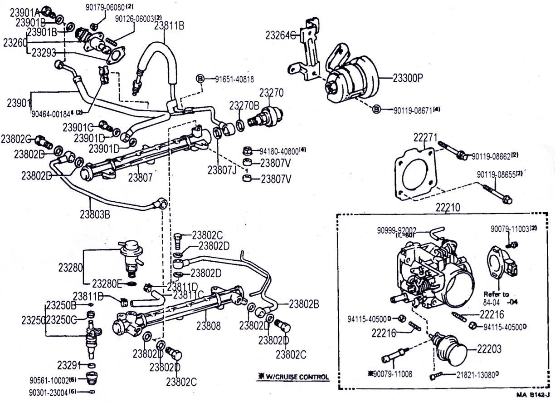 22re Coolant Hose Diagram